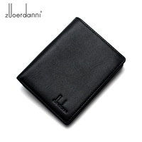 Wallet Men Mini Short Wallets Small High Quality Leather Purse Male Designer Card Holder Cowhide Leather Wallet New