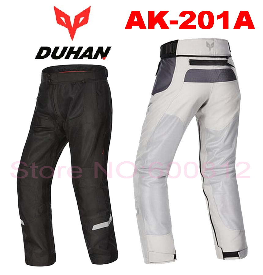 2016 New summer DUHAN mesh motorcycle riding pants Moto racing pant male motorbike trousers  Anti-wrestling Black Gray DK-201A
