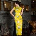 Chinês mulheres de cetim de seda de veludo longo Cheongsam Qipao vestido S ml XL XXL vestidos China Oriental tradicional chinês Cheongsam