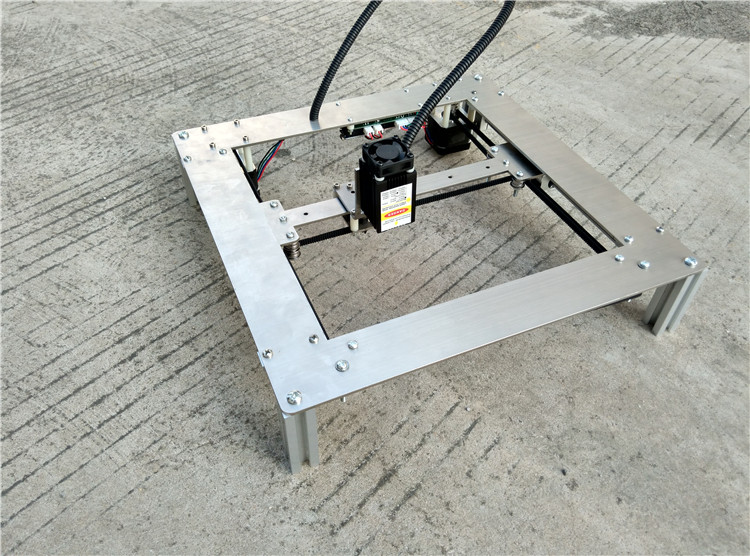 Metal framework. 300mW Laser Power, DIY Mini Laser Engraving Machine, 18*18cm Engraving Area ,Mini Marking Machine , Best Gift laser engraving machine diy