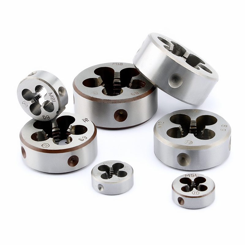 Left Hand Threading Die 1pcs Metric Thread Cutting Dies Tools For Metalworking M3 M4 M5 M6 M8 M10 M12 M14 M16 M18 M20