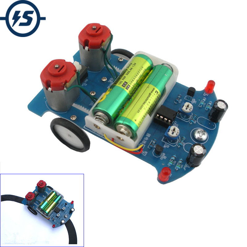 Electronic DIY Kit D2-5 Intelligent Tracking Line Car DIY Kit TT Motor Assembly Smart Patrol Automobile Parts DIY Electronic(China)