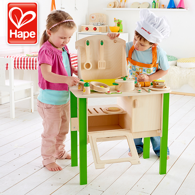 hape kitchen oak chairs the german set play toys children s baby girl most loves simulation wooden fittings