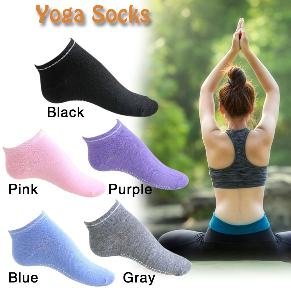 2018 Cotton Black White Gray  Blue Purple Pink Yoga Sports Anti-slip Socks Unisex Candy Socks Yoga Socks Free Shipping