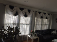 Extra Big Size String Curtain 300*360CM Solid Color 7PCS/LOT Line Curtain Window Blind Vanlance Room Dviderr
