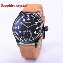 Сапфировое стекло 44 мм PARNIS ST3621/6498 Механическая Рука Ветер мужские часы Механические часы PVD корпус часов новая мода 363A