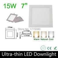 10 stks/partij 2015 Nieuwe Komen 15 W led-paneel vierkante plafond down light 2835SMD lamp 85 ~ 265 V voor keuken badkamer verlichting Via DHL