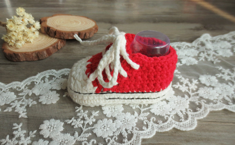 Handmade Crochet Crochet Canvas Shoes, Soft Bottom Baby Baby Wool Shoes, Toddler Shoes, Creative Gifts For Hundred Days