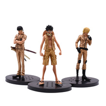 3 Styles Anime One Piece DXF Gold Luffy Roronoa Zoro Vinsmoke Sanji PVC Action Figure Doll Collectible Model Toy Christmas Gift цена и фото