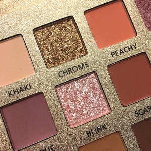 Image 2 - Vẻ Đẹp Tráng Men Trang Điểm 18 Màu Nude Phấn Mắt Pallete Chống Nước Eyeshadow Palette Cọ Trang Điểm Bảng Phấn Mắt Mỹ Phẩm