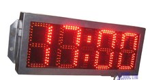 large size outdoor waterproof 8inch 4digits red color hours and minutes led clock(HOT4-8R)free shipping