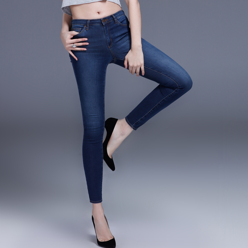 Sexy Tight font b Jeans b font For Women 2016 Sexy New Blue Mid Rise font