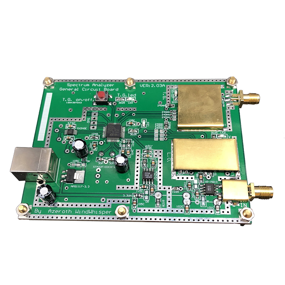 Simple Spectrum Analyser D6 with Tracking Source T.G. V2.02 Simple Signal Source RF Frequency Domain Analysis Tool-in Amplifier from Consumer Electronics