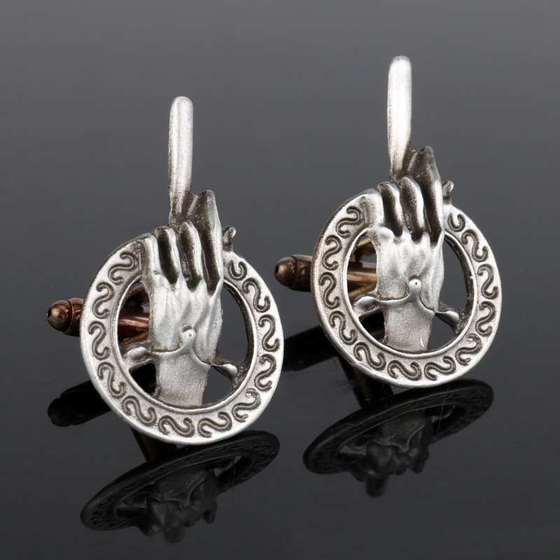 Movie Game of Thrones King Finger Hand of the king French Cufflinks New Sleeve Nail Props