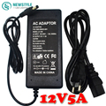 1Pcs AC/DC 12V 5A 60W Power Supply Charger for 5050/5630/3528  LED Strip light adpater +Plug Cable