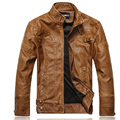 Men Fleece Leather Jacket Motorcycle Men Overcoat Slim Solid Retro Outwear Classical Leather Jacket Suede Male Casual Clothing