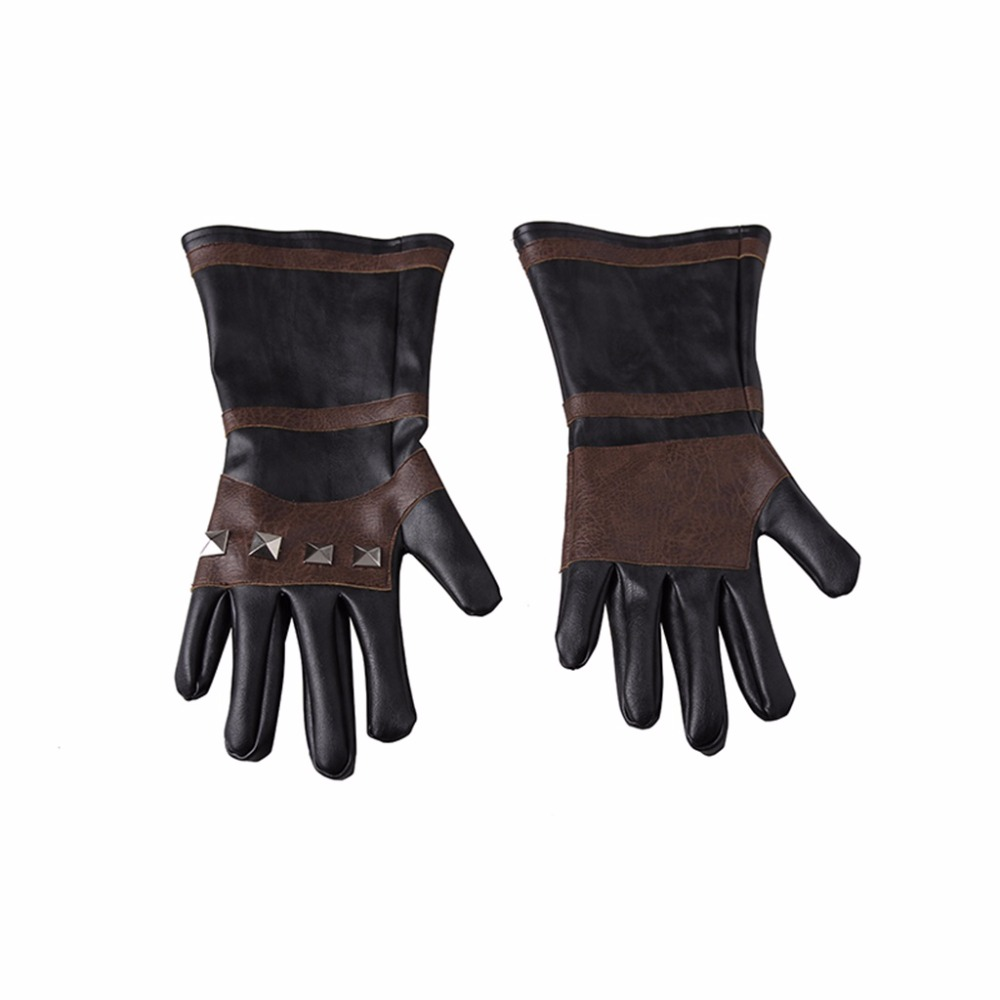CosplayDiy Men's Gloves Game The Witcher3 Wild Hunt Geralt of Rivia Cool Warm Leather Gloves