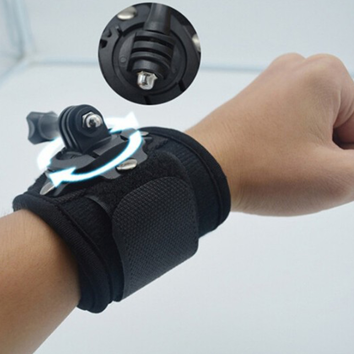 Регулируемый держатель, повязка на запястье, перчатка, 360 градусов, ручной ремень, Поворотный вращающийся штатив, крепление для GoPro Hero 4/3 + Go Pro...