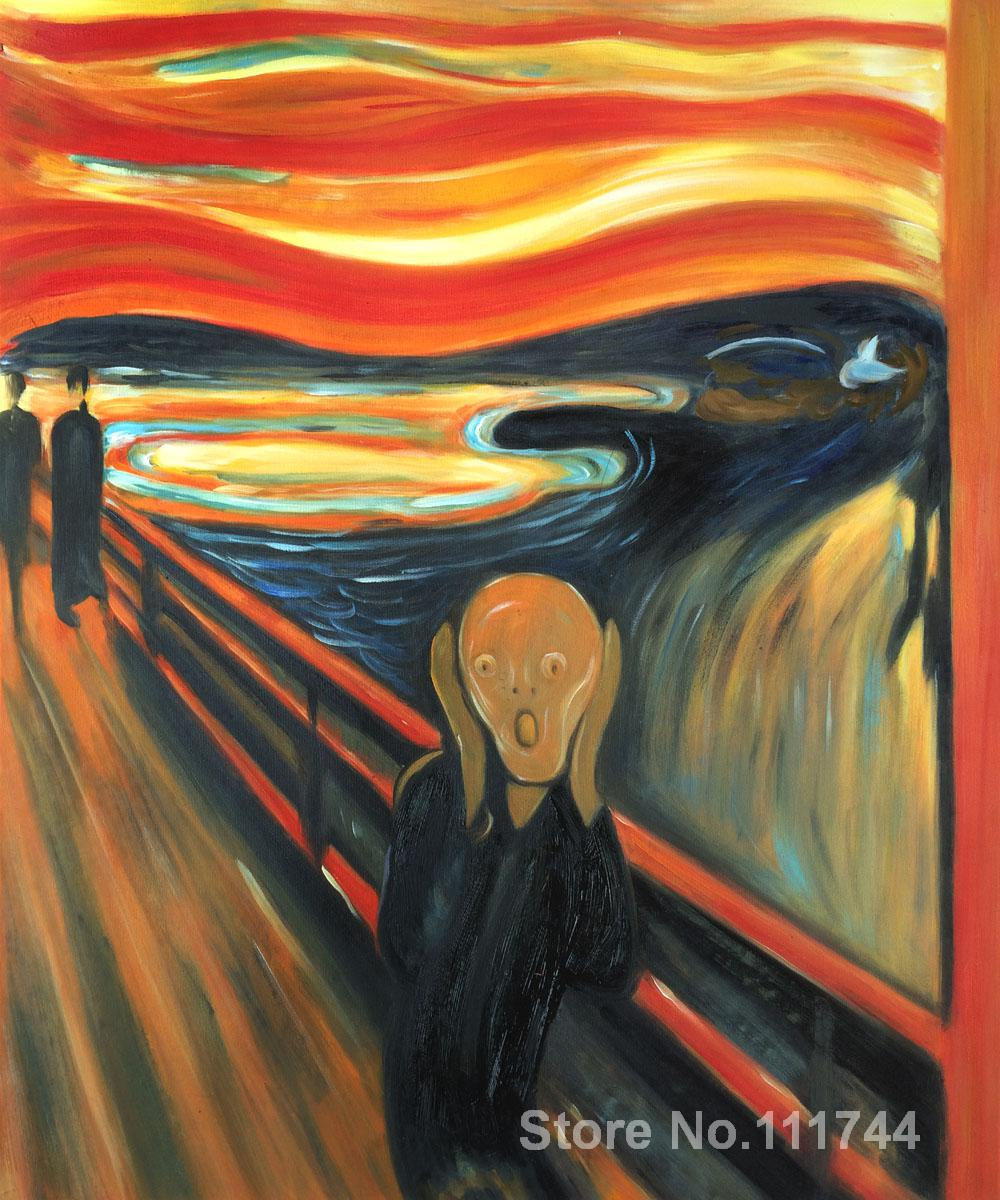 Kraft Paper Poster Nostalgic Retro Oil Painting Scream Bar decoratio Munch