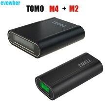TOMO V8-4 Shell Power Bank Case Charger Station and TOMO V8-2 Diy Powerbank Box Casing LCD Power Indicator Display (No Battery)