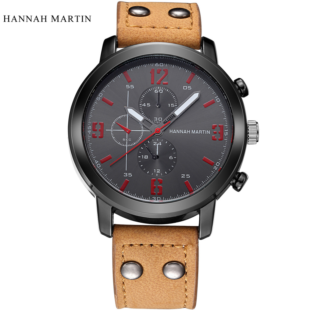 NEW 2017 Hannah Martin 남성용 스포츠 쿼츠 시계 남성용 - 남성 시계