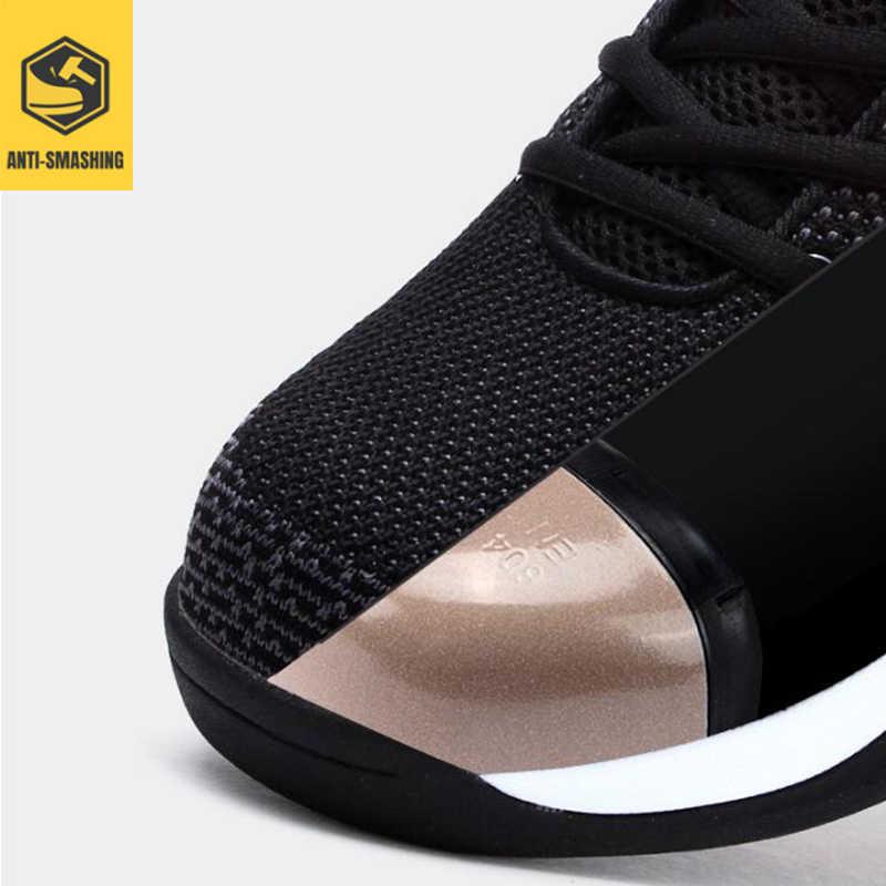 LARNMERN erkekler güvenlik ayakkabıları çelik ayak Anti-smashing ışık iş ayakkabısı yansıtıcı inşaat koruyucu bot delinmez