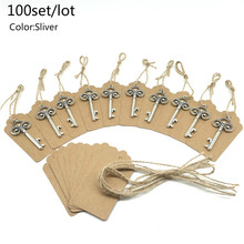 100Pcs Bachelorette συμβαλλόμενο μέρος ευνοεί το σκελετό μπουκάλι ανοιχτήρι Ετικέτες κάρτες μεταλλικό σλιπ γάμου δώρα για τους επισκέπτες εορταστικά συμβαλλόμενα μέρη