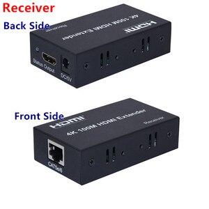 Image 2 - 4K x 2K Bộ Kéo Dài HDMI Phát + Receiver100m 1080P CAT5E6 Cáp Mạng UTP Cắm Bộ, cho HDTV PC Video Miễn Phí Vận Chuyển