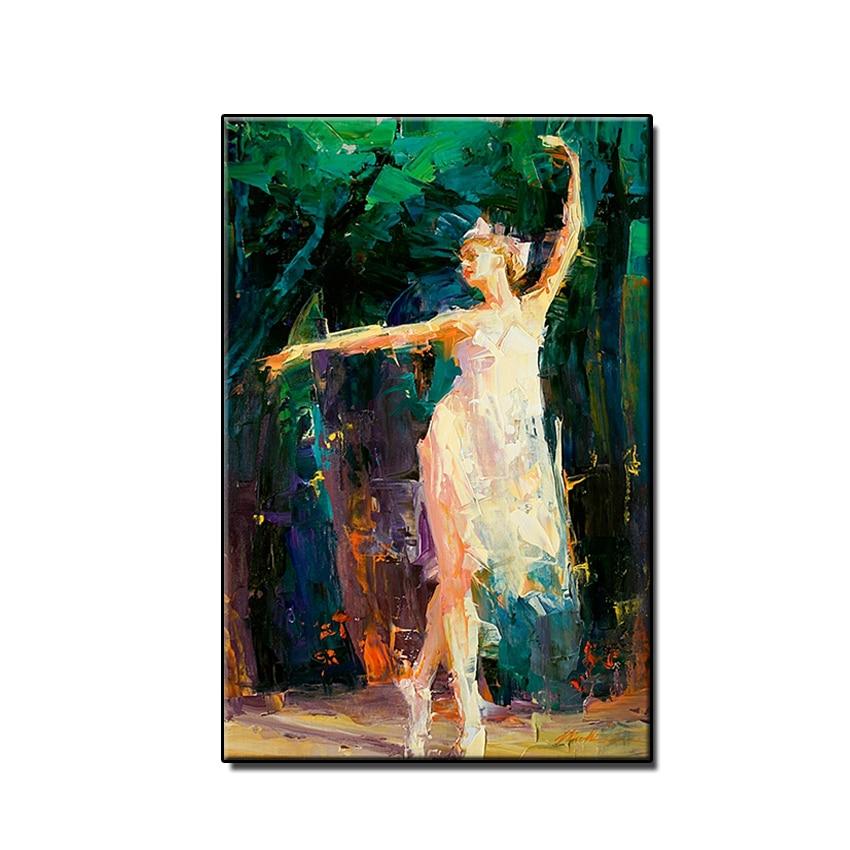 100% Hand Geschilderd Gratis Verzending Meisje Dans Ballet Olieverf Nieuwste Ontwerp Muur Decor Canvas Art Thuis Slaapkamer Muur Schilderijen