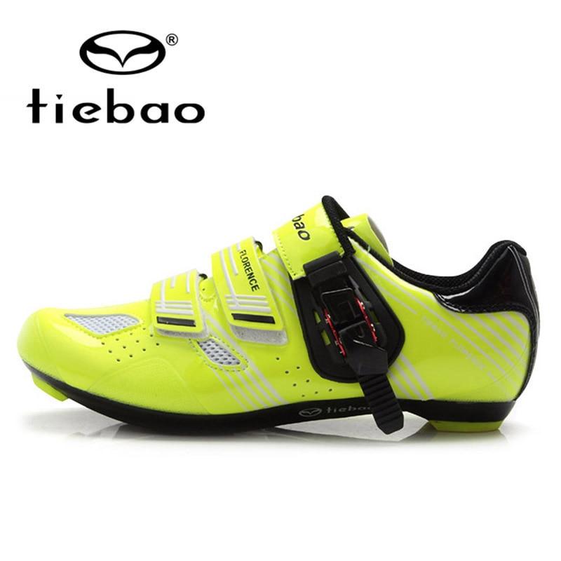 Tiebao Road Cycling font b Shoes b font Breathable Athletic Bike Self Locking font b Bicycle