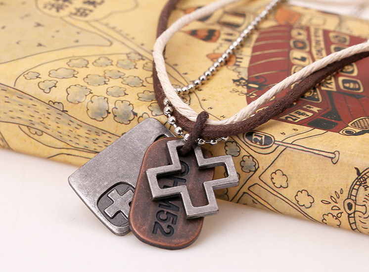 Male Jewelry Vintage Hemp Rope Leather Pendant Necklace Men's Colliers Colar Couro Hand Make Jewellery  (1)