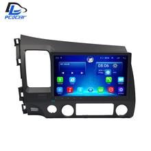 32G ROM android 6.0 gps car multimedia radio player no traço para HONDA CIVIC antes dos 2012 anos de navegação fone de ouvido estéreo