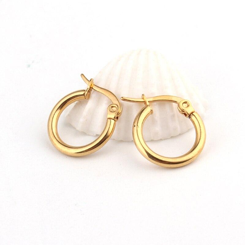 1 Paar Europäischen Vintage Gold Farbe Endless Kreis Ohrring Handmade Einfache Kleine Creolen Bali Wrap Für Frauen Modeschmuck