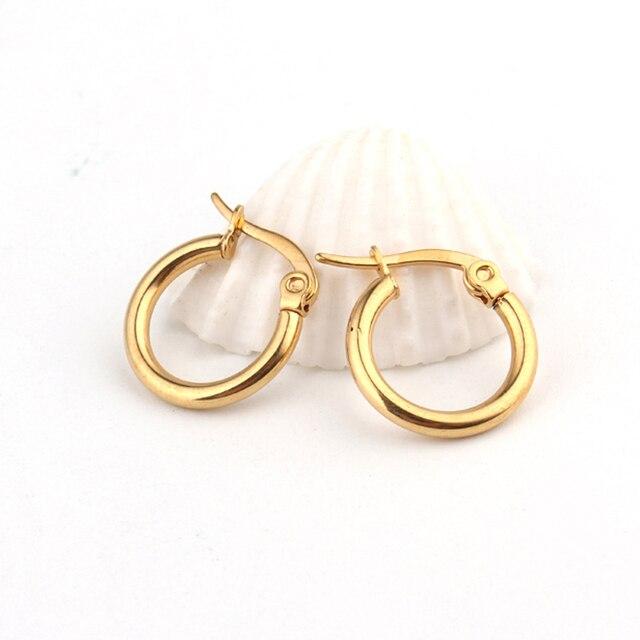 1pair European Vintage Gold Color Endless Circle Earring Handmade