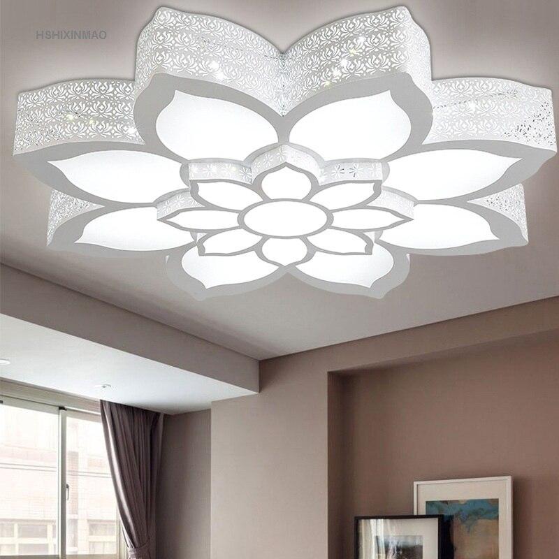 Shixinmao led lotus en forma de sala de hierro - Lamparas originales de techo ...