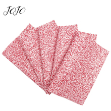 JOJO BOWS 22*30cm Glitter Fabric Red Ceramic Sheet For Clothing Home Furniture Holiday Party Decoration DIY Hair Bows Materials цена