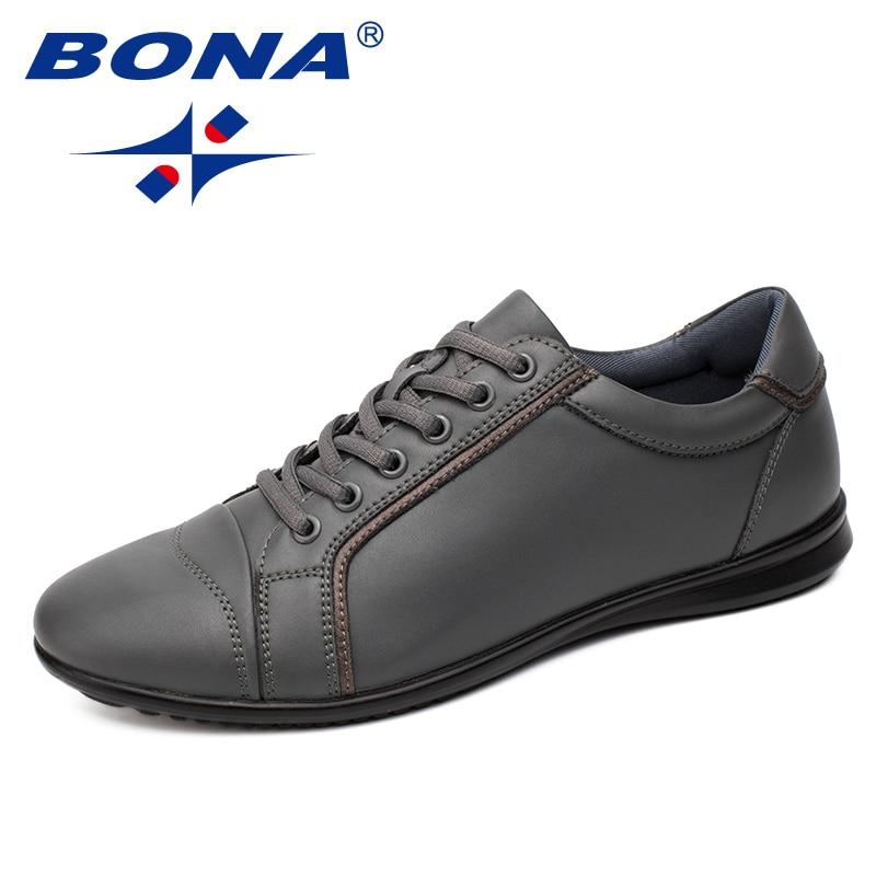 BONA New Fashion Style Men Casual Shoes Lace Up Men Shoes Microfiber Men Loafers Comfortable Men Flats Light Soft Free Shipping