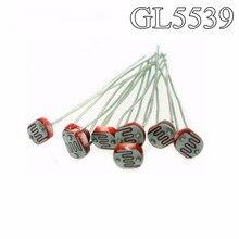 50PCS GL5539 5539 Light Dependent Resistor LDR 5MM Photoresistor wholesale and retail Photoconductive resistance