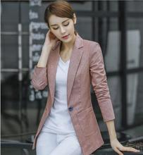 THYY 2018 Long Solid Spring Autumn Coat Blazer Women Suit Ladies Refresh Blazers Comfortable Women's Blazers Free Shipping A789