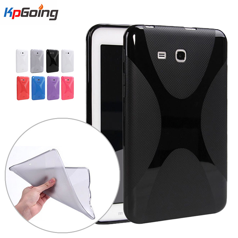For Samsung Galaxy Tab 3 7.0 Lite T110 Case X-Line Grip Soft TPU Clear Matting Cover for Samsung Tab 3 Lite 7.0 Funda Back Cover new x line soft clear tpu case gel back cover for samsung galaxy tab s2 s 2 ii sii 8 0 tablet case t715 t710 t715c silicon case