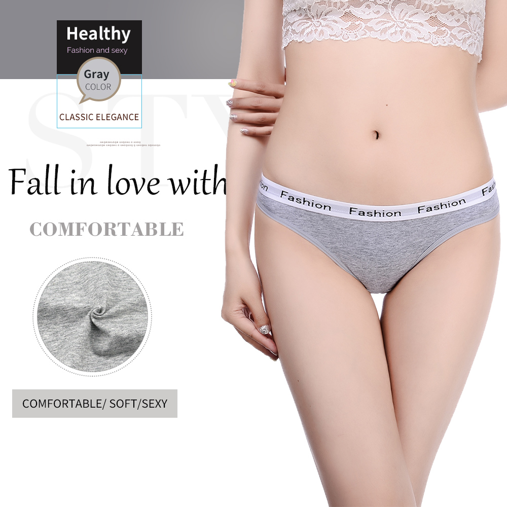 Innsly Briefs Women   Panties   Female Underwear Comfort Cotton Lingeries Women Briefs Female Pants Soft Stripe Wide edge   Panties