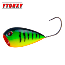 Купить с кэшбэком YTQHXY 1Pcs Fishing Lure 80mm 13g Floating CrankBait Swim Hard Bait Wobblers Croatian EGG Fishing Popper Bait Single Hook WQ160