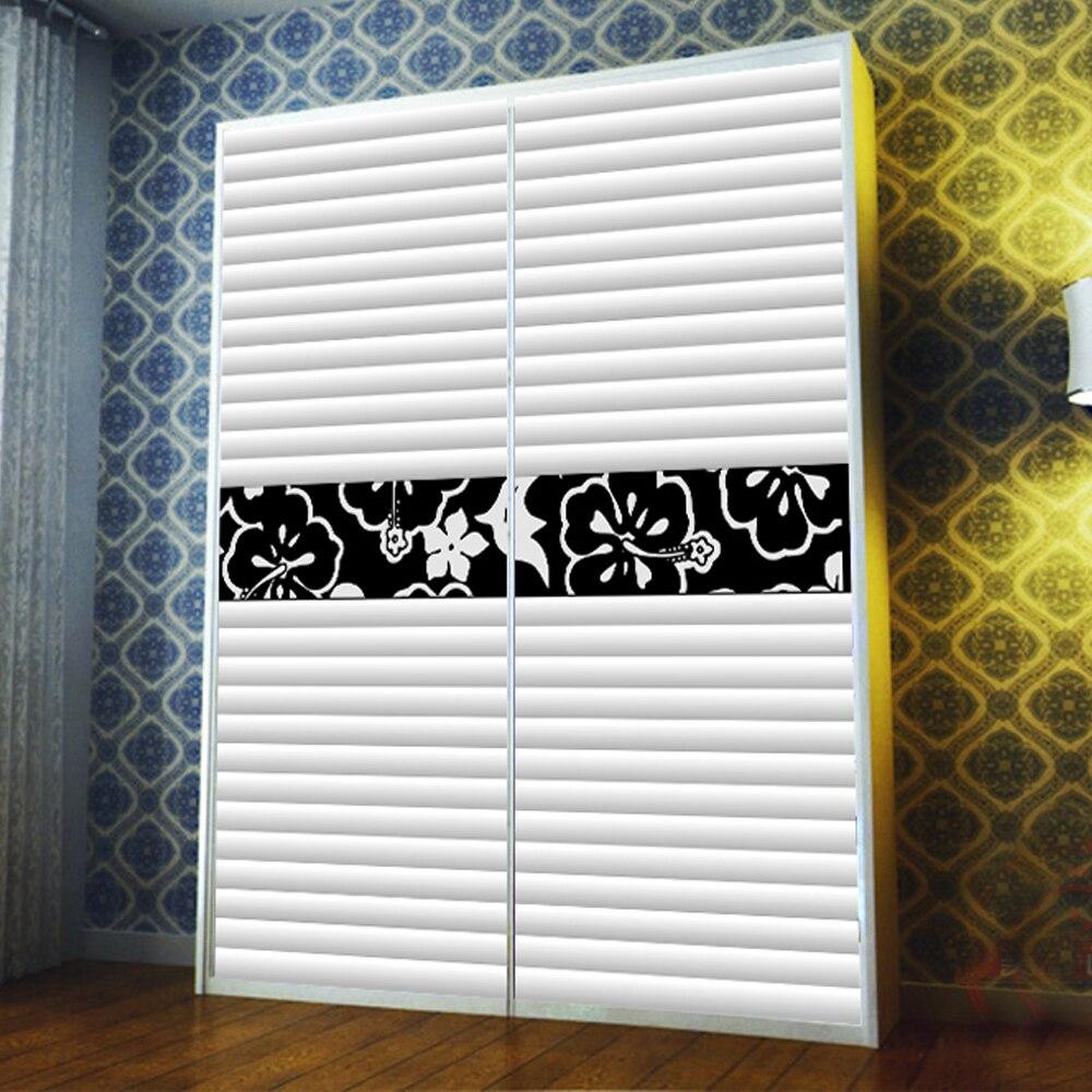 Yazi Customized Size White Blinds Effect Wardrobe Sliding Doors