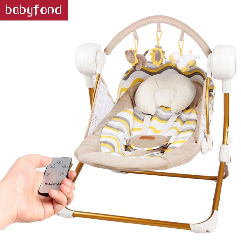 Bateau gratuit! Balançoire électrique bébé musique chaise berçante berceau automatique bébé panier de couchage placarders chaise Bluetooth envoyer des cadeaux