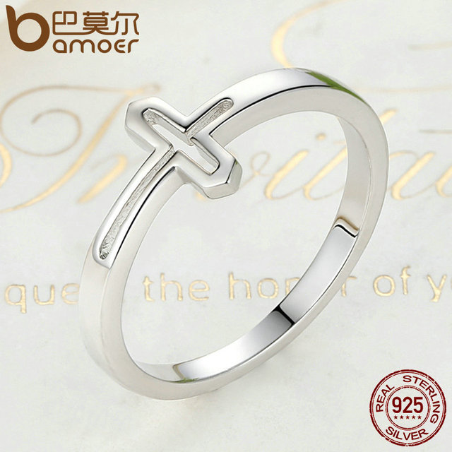Sterling Silver Symbol Of Faith Cross Ring
