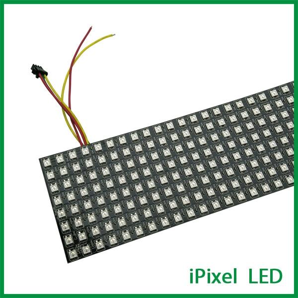 8*32 Pixel RGB WS2812B WS2812b small flexible LED panel Screen