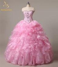 Bealegantom 2021 Милая Бальные платья бисером кристаллами кружевное