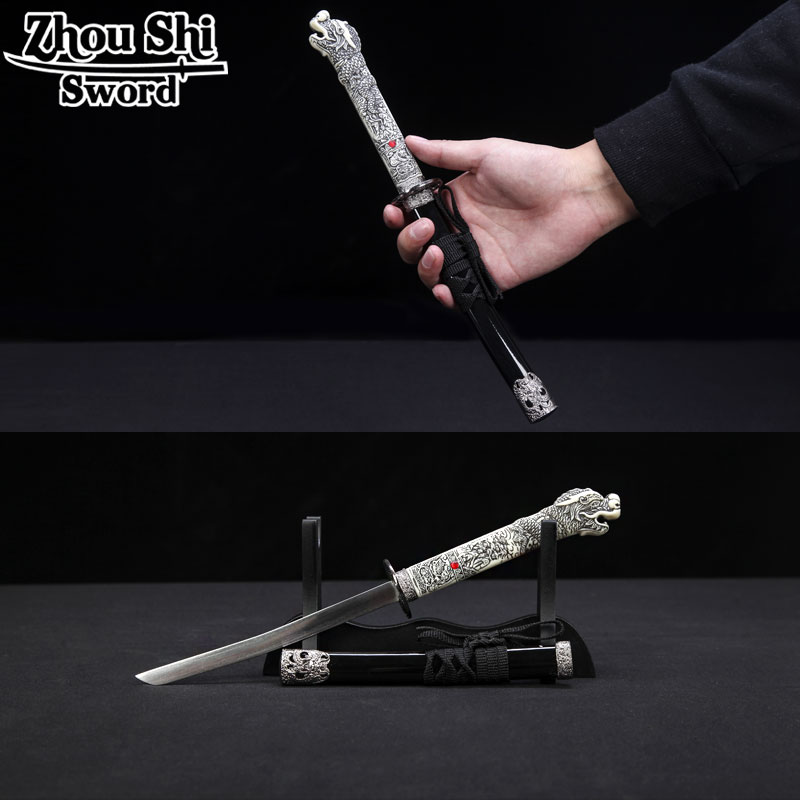 Home Decoration Short Katana Stainless steel blade Exquisite alloy fittings Dragon handle espada gifts Sword The New