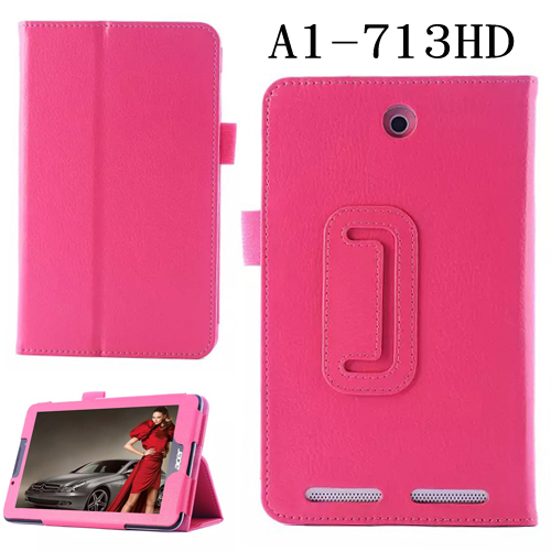 New Luxury 2-Folding Litchi Folio Stand Leather Skin Case Protective Cover For Acer Iconia Tab 7 A1 713 A1-713 7 7 inch Tablet slim print case for acer iconia tab 10 a3 a40 one 10 b3 a30 10 1 inch tablet pu leather case folding stand cover screen film pen