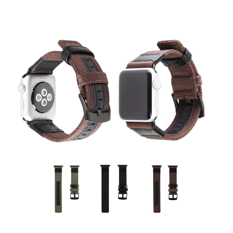 TEPELI Hakiki Deri naylon kayış apple iwatch watch band 42mm için 38mm bilezik watchband serisi 3/2/1 yedek kayış